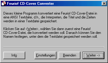Screenshot für Feurio! CD-Cover Converter